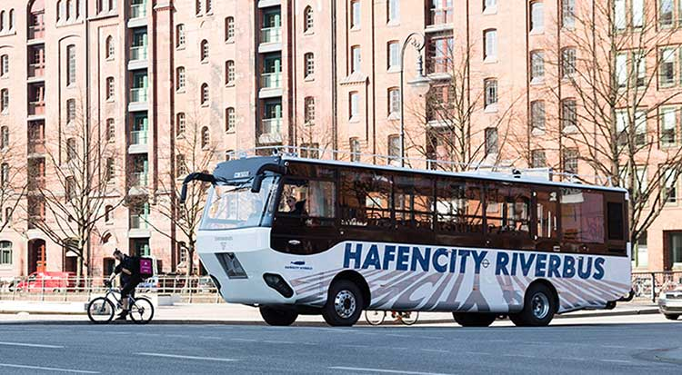 Hafencity-Riverbus-On-Road
